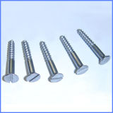 Galvanized Slotted Drive Flat Head Wood Screw