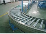 Curved Multi-Track Roller Conveyor Line-1