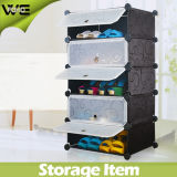 5 Cubes Indoor Shoe Storage Rack, Each Cube Can Hold 3 Pairs Lady Shoes