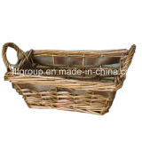 Eco-Friendly Customized Handmade Fork Art Willow Basket in Vintage Finishing