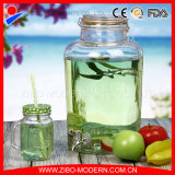 Customized Clear Glass Water Dispenser with Water Faucet