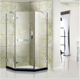 "Free Standing Tempered Glass Shower Door Shower Enclosure with 5/16"" Thick"