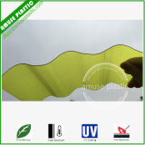 Colored Plastic PC Wavy Circular Corrugated Polycarbonate Lighting Roof Sheet