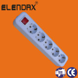European Style 10/16A 5 Way Extension Power Switch Socket (E8005ES)