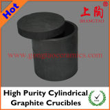High Purity Cylindrical Graphite Crucibles