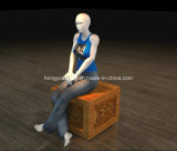Wooden Stool with Mannequins for Square Shap