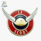 Factory Promotion Gift Die Cut Enamel Embossed Wing Collar Pin