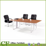 Metal Leg Office Small Wood Meeting Table for 6 Person