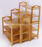 Bamboo Shoe Shelf Display Rack for Household