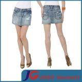Women Fashion Denim Distressed Mini Skirts (JC2106)