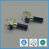 9mm 100k Ohm Rotary Potentiometer with Insulated Long Shaft for Mixer