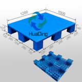 1200*W1000*H140mm Plastic Pallet with 9 Feet, Closed Deck