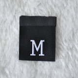 High Density Fabric Woven Clothing Tags Folding M/S Size Label