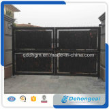 Swing Wrought Iron Gate with Galvanized Panels