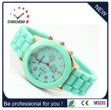 Ladies Geneva Leather Watch Women, Geneva Leather Band Watch, Custom Logo Welcome (DC-438)