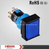 CE RoHS IP65 Waterproof Plastic Pushbutton with LED Reset Type