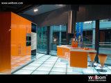 2015 [ Welbom ] Modern Customized Orange Kitchen Furniture