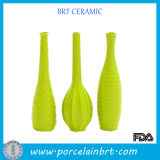 Apple Green Slim Ceramic Flower Vase Set