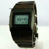 Sport Wood Wrist Watch Digital Wooden Watches for Gift