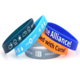 Fashion Silicone Wristband Rubber Wristband Glow in Dark (XY-SH1004)