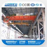QC Model Double Beam Magnet Overhead Crane and Hoist