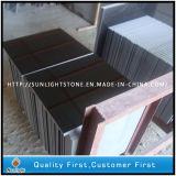 Polished Mongolia Black Granite/China Black Flooring Tiles
