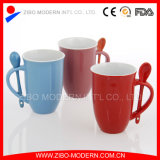 Ceramic Mug with Spoon, Ceramic Coffee Mug Spoon in Handle