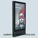 Street Advertising Aluminium Frame Scrolling Billboard Outdoor Solar Battery LED Back Light Box