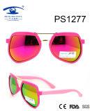 Wholesale Special Frame Colorful Children Plastic Sunglasses (PS1277)