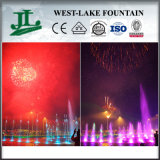 Fireworks Celebration Music Dancing Fountain