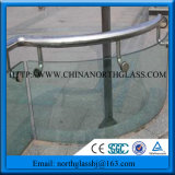 Curved Bent Clear Tempered Railing Glass