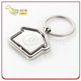 House Shape Spinning Metal Keychain for Real Estate Gift