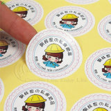 Custom Adhesive Paper/PVC Label Stickers for Food/Drink/Caution/Supermarket (KG-PT017)