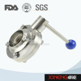 Stainless Steel Sanitary Manual Round Handle Butterfly Valve (JN-BV1001)
