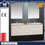 60′′ MDF White Lacquer Bathroom Cabinet Set with Wash Basin