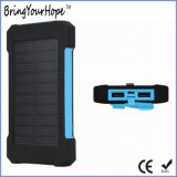 Waterproof 8000mAh Solar Power Bank with Dual USB Ports (XH-PB-168)