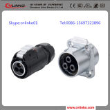IP67 3 Pin Power Connector for Industrial Equipment
