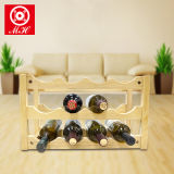 3 Tier 12 Bottle Wooden Wine Display Rack for Bars Decorative Use