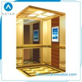 450~1000kg Machine Roomless Passenger Elevator with Golden Titanium Etching Cabin