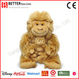 Mother′s Day Stuffed Animal Plush Monkey Toy