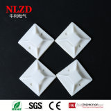 Strong adhesive plastic wire tie mount base