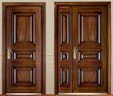 Solid Steel Wood Armored Door Single Door Son Mother Door