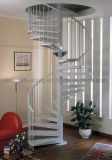 Modern Steel White Staircase Metal Spiral Stairs for Home Indoor