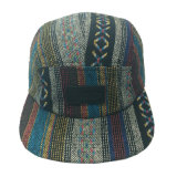 Promotional Gift Fabric 5 Panel Supreme Hat Camper Cap