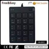 Custom Logo Black USB Wired Digital Small Keyboard
