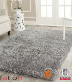 Chinese Knot Sample Gray Area Rug Shaggy Carpet Sizes 5 Inches X 8 Inches or Customized