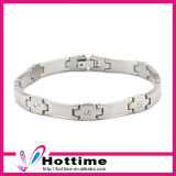 Popular Wholesale Stainless Steel Bracelet with CZ Crystal (CP-JS-BL-101)