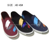 Latest Fashion Men′s Slip on Printing Injection Canvas Shoes (DL60929-5)