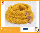 New Arrival Women′s Knitted Neck Warmer Scarf with Button