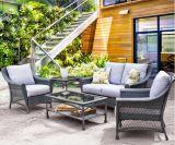5 Pieces Outdoor Sofa Set PE Rattan Furniture